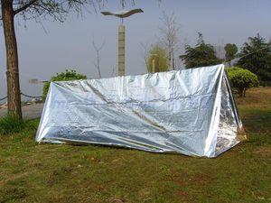 응급 처치 응급 텐트 PET 알루미늄 코팅 필름 야외 여름 캠핑 하이킹 구조 안전 Sun shelter Blanket Tube Tent