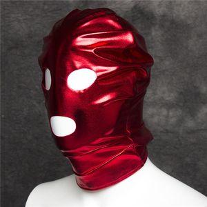 W1021 Sexy Open REE Head Mask Hood Bondage Versand Fetisch Spielzeug Mund Rote Erwachsene Spiele JRGFX