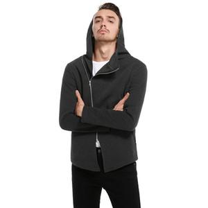 Venta caliente Nueva Moda hip hop Sudaderas con capucha Sudaderas Con Cremallera Cardigan Casual Chaqueta Con Capucha Slim Fit Escudo prendas de vestir exteriores de los hombres
