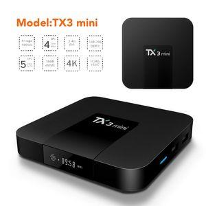 Android 8.1 OTT TV Box Tx3 Mini Amlogic S905W Dört Çekirdekli 2GB 16GB 4K Akıllı Akış Media Player