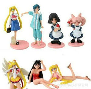 Artículos de decoración de Sailor Moon juguetes de muñecas 7 pequeños conejos de estilo Sailor moon hand dolls Artículos de decoración de muñecas Figuras de acción