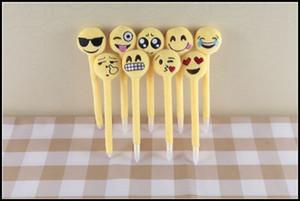 Prettybaby kids emoji bolígrafos amor de los niños pluma de expresión creativa con juguetes de peluche de dibujos animados regalo de los niños pt0094 #