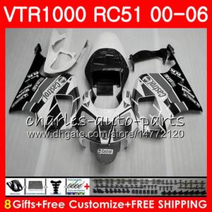 본체 HONDA 용 RTV1000 VTR 1000 00 01 02 03 화이트 블랙 04 05 06 92NO69 VTR1000 RC51 SP1 SP2 00 2000 2001 2002 2003 2004 2005 2006 페어링