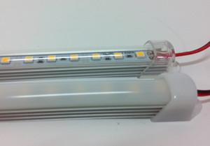DC 12V 0.5m 5050 SMD WW / CW 12 Volt CE ROSH Işıklar Sert Şerit Işıklar Bar Sert Madde Ampul SMD5050 Su geçirgen Şeritler LED 36leds