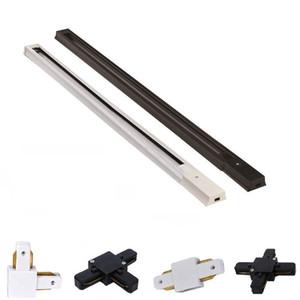 Spedizione gratuita tier binario faretti faretti led di alluminio spessa binario luci 0.5 M 1 M 1.5 M 2 M di alta qualità binario a 2 fili