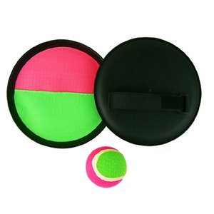 Hot New Hot Cool Plastic Throw Catch 2 Bats Furry Ball Juego de playa para jugar al aire libre Envío gratuito de la gota