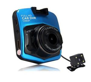 سيارة DVR داش كاميرا المزدوج عدسة GT300 سيارة DVRs كاميرا كامل HD 1080P مسجل فيديو مع النسخ الاحتياطي للرؤية الخلفية وقوف السيارات مسجل الصندوق الأسود