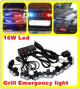 16W (8heads) яркий LED полиции пожарный ambualnce автомобиля гриль предупредительные световые сигналы, аварийное освещение, DRL, строб вспышки света, водонепроницаемый
