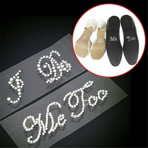 Hot Sale Modern Style I Order<$18no Shoes Accessory Too And Set Wedding Tra And Groom Me Sticker Rhinestone Applique Wedding Decal Brid Tvvh