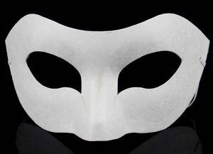 Placa de desenho Sólida Branco DIY Zorro Máscara De Papel Em Branco máscara de Jogo para Escolas de Formatura Celebração do Partido do Dia Das Bruxas máscara mascarada 30 pcs