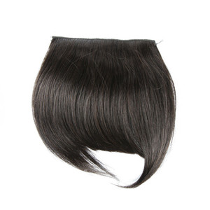 Девственные человеческие волосы бахрома натуральный цвет шелковистые прямые человеческие волосы расширения One Piece DHL доставка XBLHair