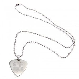 Guitar Pick Silver-dipped Pendant Com Rock Style Guitar pick Colar