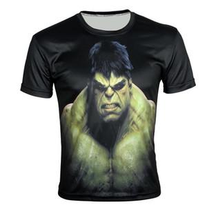w1209 Super Héros The Hulk Print Creative 3D t-shirt T-shirt slim à manches courtes été sportif XXS-6X, E159