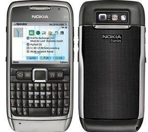 الهاتف الأصلي نوكيا E71 الهاتف الخليوي QWERTY لوحة المفاتيح 3.2MP واي فاي GPS بلوتوث 3G الهاتف مقفلة ضمان لمدة سنة واحدة