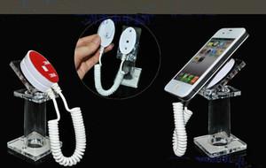Venta caliente al por mayor oval acrílico teléfono móvil seguridad pantalla soporte 20pcs