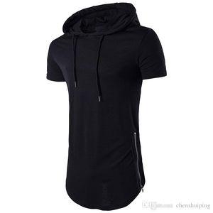 Sıcak Satış Günlük Kapşonlu Tişörtler Tee Shirt Mens Artı boyutu Yeni kısa kollu tişört Erkek Giyim Tops