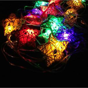 Modelado de cuerdas de luz de colores cadena rota estrella 4M luces 110v 220v 2W para la decoración de navidad luces de árbol al aire libre patio interior