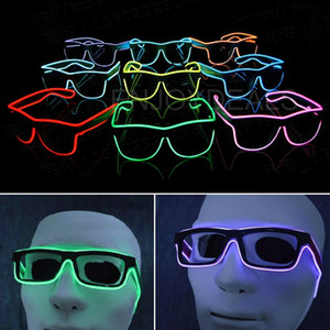 Simple el glasses El Wire Fashion Neon LED Light Up Shutter Shaped Glow Sun Glasses Rave Costume Party DJ Bright SunGlasses
