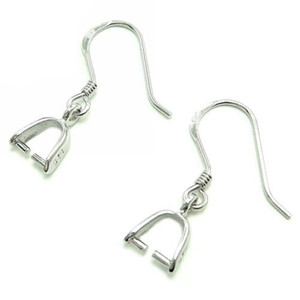 Brinco Encontrar pinos 925 sterling silver earring blanks com baldas diy brinco conversor francês orelha fios 18mm 20mm CF013 5 pares / lote