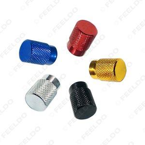 4 PCS / ensemble en alliage d'aluminium de roue de voiture valve de valve de tige de tige de couvercle couvre-poussière 5 couleurs UGS # 5483