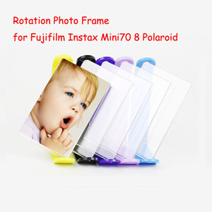 """Rotação Acrílico Photo Frame para Fujifilm Instax Mini70 8 Polaroid Photo Film 3 """"Transparente Mini Quadro de Mesa"""