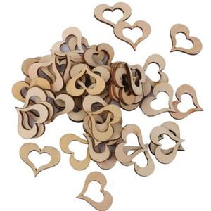 100-Pack из дерева Сердце свадебные украшения украшение для вечеринки лазерная освящение сердца Touchlove сердце декор Главная Свадебная Сцена Опора