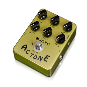 JOYO JF-13 Ac Tone Electric Guitar Effect Pedal True Bypass with Free Gold Pedal Connector and Mooer Pedal knob
