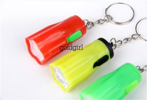 Colorful Flower Shape Portable Cute Bright LED Flashlight Key Chain Mini KeyChain Torch Flashlights Plum Ring Mixed Colors For Hiking