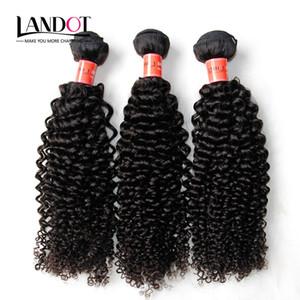 Brésilienne Bouclés de Cheveux Humains Tisse 3 Bundles Non Transformés 8A Péruvienne Malaisienne Indien Cambodgien Mongol Jerry Kinky Boucles Extensions de Cheveux