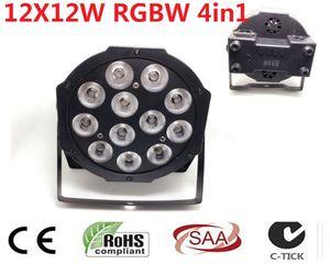 2 unids CREE RGBW 12x12 W 4en1 plano LED SlimPar Quad LED Luce Luce della lampada 4/8 Channes DMX DJ Luz de la Etapa de Lavado