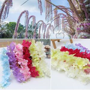 Hot Fleurs artificielles Garland Silk Hydrangea Décorations de mariage haute densité Pétale cordes Xmas Party 14 Noël ColorsHH7-299