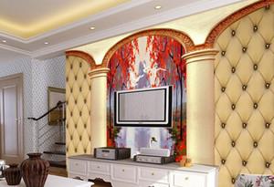 papier peint moderne Beau paquet 3D atmosphérique atmosphérique Mur de fond beauté Swan Lake