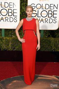 2016 Jennifer Lawrence Premio Golden Globe Vestido de noche Vestidos de famosos Vestidos de noche Fiesta formal Alfombra roja Vestidos de baile