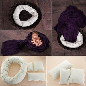 Wholesale 4 PCS Set Newborn Baby Photography Pillow Basket Posing Props Baby Cushion Posing Tools Free Shipping