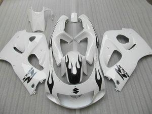 Настроить обтекатель комплект для SUZUKI GSXR600 GSXR750 1996 1997 1998 1999 2000 GSX-R 600 750 96-00 белый черный кузов обтекатели набор GB9