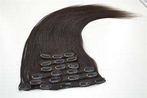Yaki Straight 말레이시아 처녀 머리카락 7PCS / SET 클립 인체 머리카락 120g 베스트 G - EASY 헤어 제품