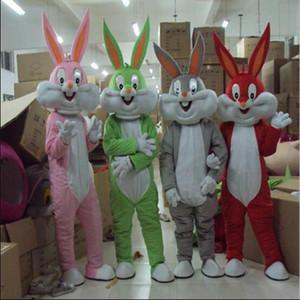 Оптовая профессиональный пасхальный кролик костюм талисмана ошибки серый кролик Заяц взрослых необычные платья мультфильм костюм необычные платья