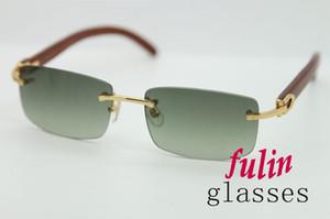 Heiße berühmte Holz Sonnenbrille große Diskont-Sonnenbrille Online Sommerferien Protected Sonnenbrillen für Männer oder Frau 3524012 Größe: 56-18-140