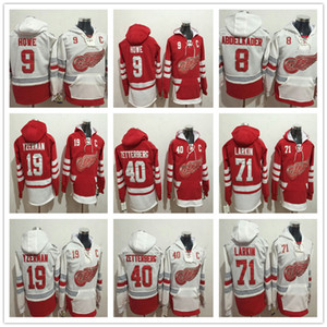 2017 Centennial Classic Dylan Larkin 9 Gordie Howe Steve Yzerman Justin Abdelkader 40 Henrik Zetterberg Detroit Red alas Sudadera con capucha Sudadera