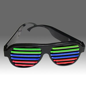 Wholesale-2015 Newest Frame LED Sound Activated Novelty Sunglasses Glow In The Dark Sunglasses For Novelty Products For Import