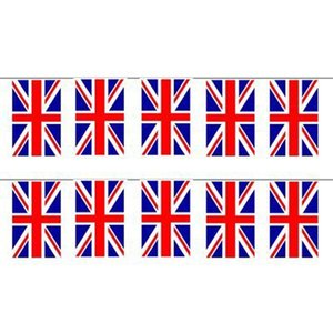 FS Hot Union Jack Flag Bunting 12ft con 11Flags ordina $ 18no track
