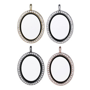 Top Grade Fashion Oval Floating Locket DIY Transparent Glass Frames Floatings Charms Lockets Pendants Jewelry Wholesale Free Ship 0038KLF