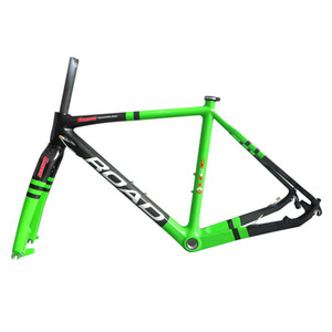 Wholesale-Carbon Fahrrad, Matt Carbon Cyclocross Rahmen, Carbon Road Rahmen + Gabel + Klemme 51cm / 55cm / 57cm