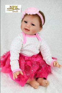 Nouvelle arrivée NPK Poupée Reborn bébés Poupée réaliste réel Looking Réincarné en silicone souple Nuisettes Bonecas Brinquedos 22 pouces