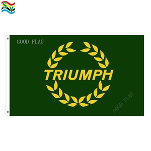 Triumph green flags banner 크기 3x5FT 90 * 150cm, 금속 그로멧, 실외 플래그