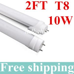 10W 0.6mT8 Led 튜브 라이트 2 Ft 85-265V AC 3000-6500K LED 튜브 전구 램프 형광등 SMD2835 쿨 / 따뜻한 화이트