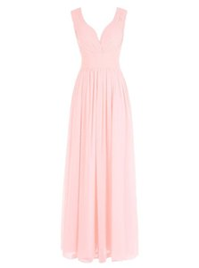 2018 Free Shipping V Neck Prom Dresses vestidos de Noiva Formal Evening Gowns Chiffon For Party Dress