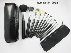 Free Gift!!!HOT NEW Makeup Brushes 12 piece Professional Brush sets black package 50 pc