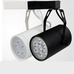 New Arrival Led Track Rail Lighting 5W 7W Black White Shell Led Projection Ceiling Light Led Spotlight Wall Lamp 20pcs lot