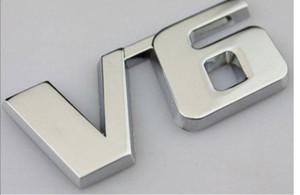 Металл V6 Chrome Эмблемы значки автомобилей Наклейки на бампер Fender стайлинга автомобилей